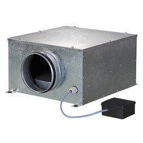 ISO-B-125 boxventilator - 330 m3/h - Ø125mm
