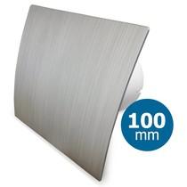Badkamer/toilet ventilator - standaard - Ø100mm - zilver