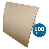 Badkamer/toilet ventilator - standaard - Ø100mm - goud