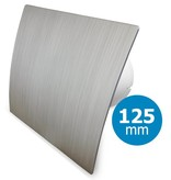 Pro-Design Badkamer/toilet ventilator - standaard - Ø125mm - zilver