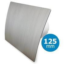 Badkamer/toilet ventilator - standaard - Ø125mm - zilver