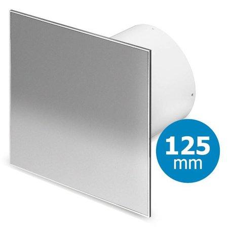 Pro-Design Badkamer/toilet ventilator - standaard - Ø125mm - RVS vlak