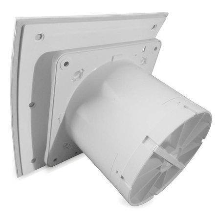Pro-Design Badkamer/toilet ventilator - standaard - Ø100mm - gebogen glas - mat wit