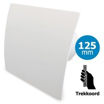 Badkamer/toilet ventilator - trekkoord - Ø125mm