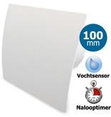 Pro-Design Badkamer/toilet ventilator - met timer & vochtsensor - Ø100mm