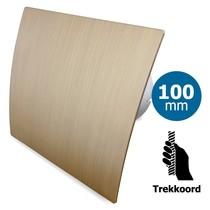 Badkamer/toilet ventilator - trekkoord - Ø100mm - goud