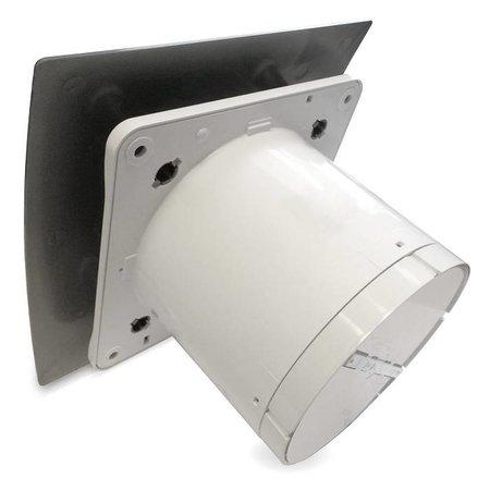 Pro-Design Badkamer/toilet ventilator - trekkoord - Ø125mm - zilver