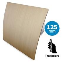 Badkamer/toilet ventilator - trekkoord - Ø125mm - goud