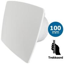 Badkamer/toilet ventilator - trekkoord - Ø100mm - bold-line wit