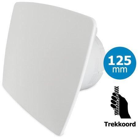 Pro-Design Badkamer/toilet ventilator - trekkoord - Ø125mm - bold-line