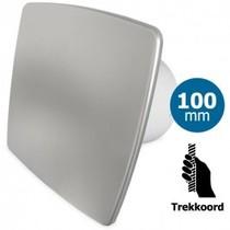 Badkamer/toilet ventilator - trekkoord - Ø100mm - bold-line RVS