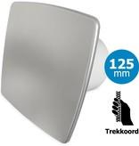 Pro-Design Badkamer/toilet ventilator - trekkoord - Ø125mm - bold-line RVS