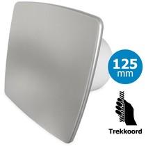 Badkamer/toilet ventilator - trekkoord - Ø125mm - bold-line RVS