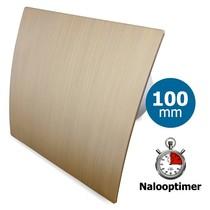 Badkamer/toilet ventilator - met timer - Ø100mm - goud