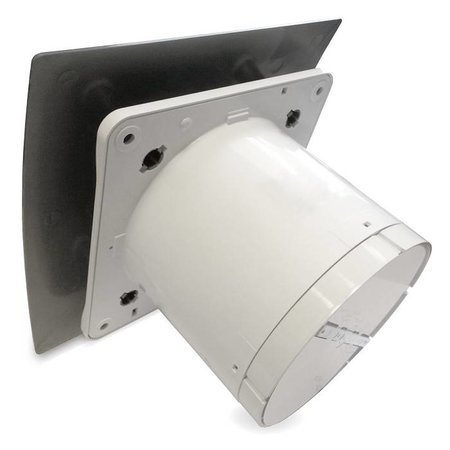 Pro-Design Badkamer/toilet ventilator - met timer - Ø125mm - zilver