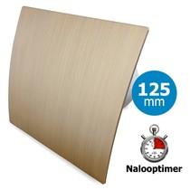 Badkamer/toilet ventilator - met timer - Ø125mm - goud