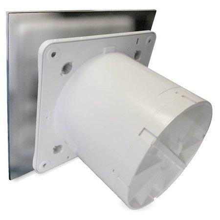Pro-Design Badkamer/toilet ventilator - met timer - Ø100mm - RVS vlak