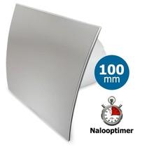 Badkamer/toilet ventilator - timer - Ø100mm - RVS gebogen