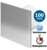 Pro-Design Badkamer/toilet ventilator - met timer & vochtsensor  - Ø100mm - RVS vlak