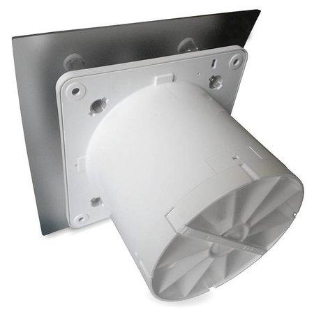 Pro-Design Badkamer/toilet ventilator - met timer & vochtsensor - Ø100mm - RVS gebogen