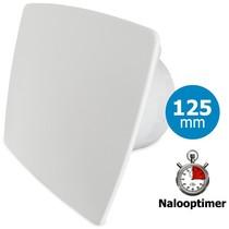 Badkamer/toilet ventilator - met timer - Ø125mm - bold-line wit
