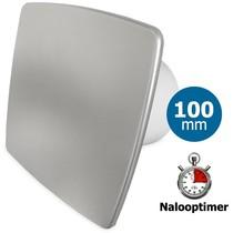 Badkamer/toilet ventilator - met timer - Ø100mm - bold-line RVS