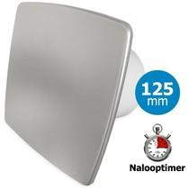 Badkamer/toilet ventilator - met timer - Ø125mm - bold-line RVS