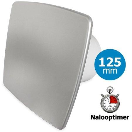 Pro-Design Badkamer/toilet ventilator - met timer - Ø125mm - bold-line RVS