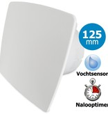 Pro-Design Badkamer/toilet ventilator - met timer & vochtsensor - Ø125mm - bold-line