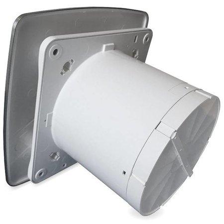 Pro-Design Badkamer/toilet ventilator - met timer & vochtsensor - Ø100mm - bold-line RVS