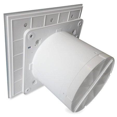 Pro-Design Badkamer/toilet ventilator - met timer & vochtsensor - Ø100mm - vlak glas - mat wit