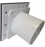Pro-Design Badkamer/toilet ventilator - met timer - Ø100mm - vlak glas - mat zwart