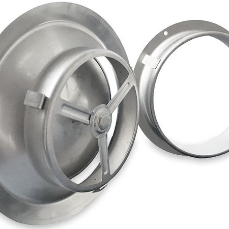 Rooster/ventiel Ø125mm - afvoer & toevoer - geborsteld RVS