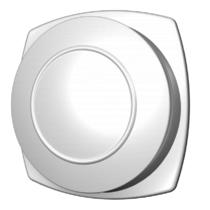 Kunststof ventilatierooster Ø125mm - afvoer - wit