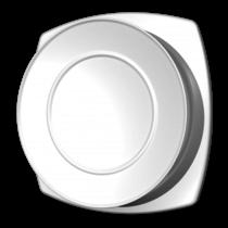 Kunststof ventilatierooster Ø100mm - toevoer - wit