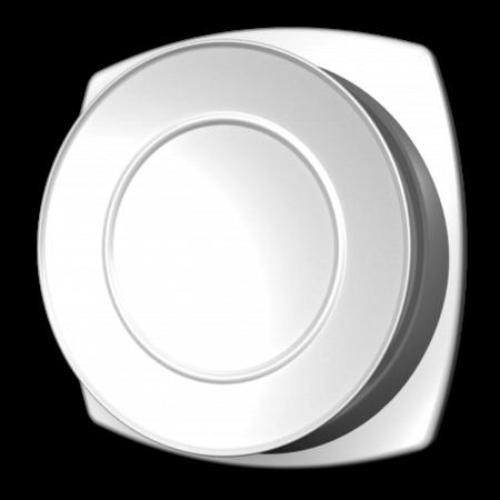 Kunststof ventilatierooster Ø125mm - toevoer - wit