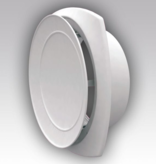 Kunststof ventilatierooster Ø160mm - toevoer - wit