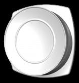 Kunststof ventilatierooster Ø200mm - toevoer - wit