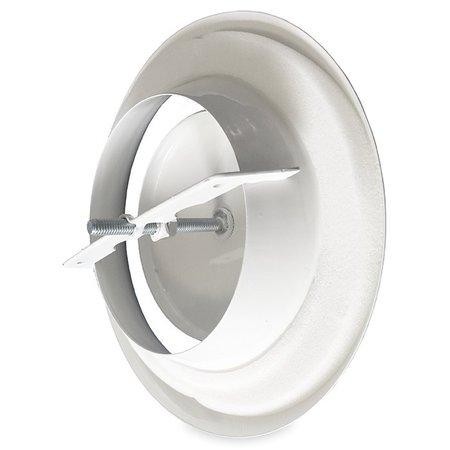 Rooster/ventiel Ø80mm staal - afvoer - met bus