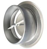 Rooster/ventiel Ø100mm staal - afvoer - met bus