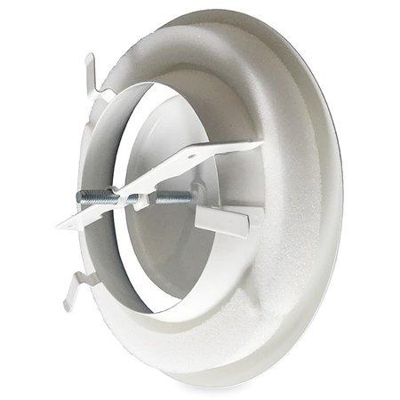 Rooster/ventiel Ø100mm staal - afvoer - met veer