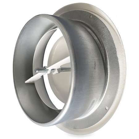 Rooster/ventiel Ø125mm staal - afvoer - met bus