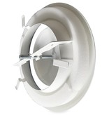 Rooster/ventiel Ø125mm staal - afvoer - met veer