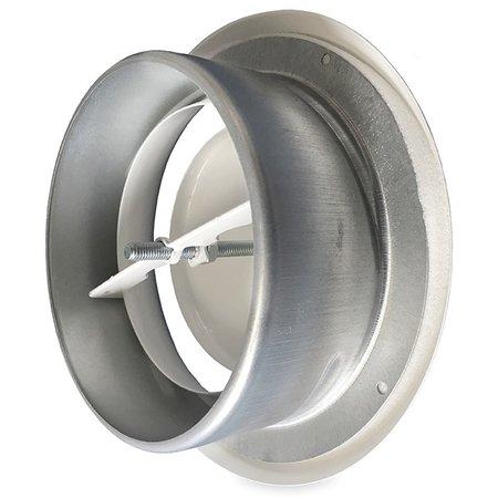 Rooster/ventiel Ø160mm staal - afvoer - met bus