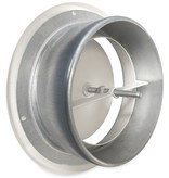 Rooster/ventiel Ø125mm staal - toevoer - met bus