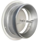 Rooster/ventiel Ø160mm staal - toevoer - met bus