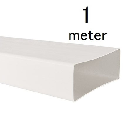Rechthoekig kanaal 204x60mm - L=1000mm