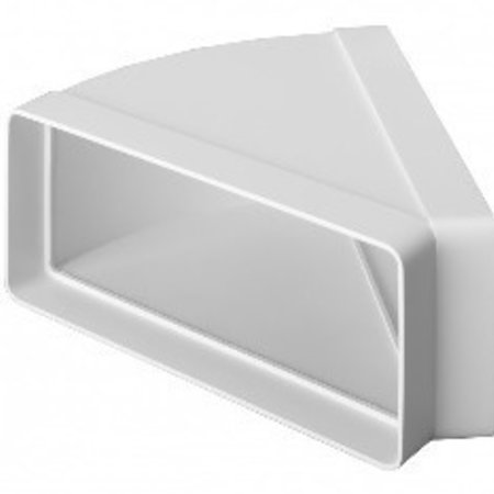 Horizontale bocht 45° - 220x90mm