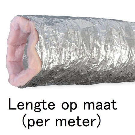 Geïsoleerde flexibele slang - Ø254mm - aluminium