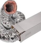 Geïsoleerde flexibele slang - Ø152mm - aluminium - 10 meter